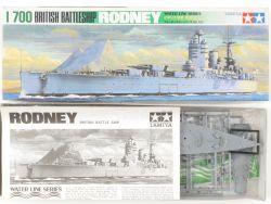 Tamiya 77502 British Battleship HMS Rodney 1/700 Kit NEU! OVP