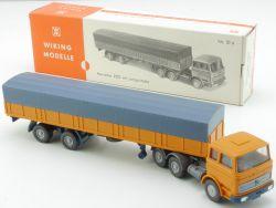 Wiking 735/1 AB MB 2223 Pritschen-Sattelzug Gelborange 51a OVP
