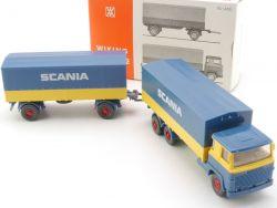 Wiking 460/8 Scania LBT 111 Pritschen-Fern-Lastzug Box TOP! OVP