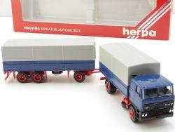 Herpa 827001 DAF 3300 Pritsche-Planen-Hängerzug HZ LKW NEU OVP