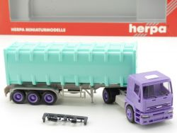 Herpa 143073 Iveco Eurotech Container-Sattelzug SZ LKW NEU! OVP