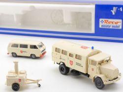 Roco 1376 Malteser Hilfsdienst Set MHD MAN 630 VW Bus T3 NEU OVP