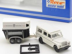 Roco 1709 Land Rover Pferdetransporter Böckelmann Anhänger NEU OVP