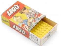 Lego 221 System 26x Legostein 1 x 2 gelb original box 50er OVP
