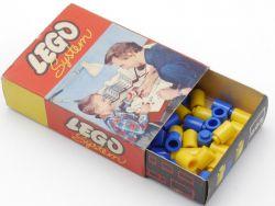 Lego 223 System 40x Legostein 1 x 1 gelb/blau Vintage 50er OVP
