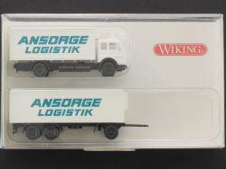 Wiking 9410322 MB Ansorge Logistik Hängerzug LKW 1:160 NEU! OVP