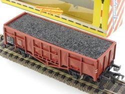 Fleischmann 1455 Hochbordwagen mit Kohleladung DB H0 Karton OVP