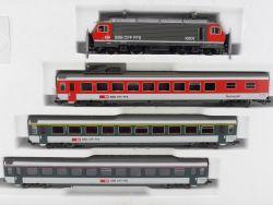 Roco 41062 Zugset Schweiz Ellok Re 4/4 SBB AC für Märklin OVP