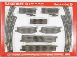 Fleischmann 6190 Profi-Gleis Stations-Set Schienenset H0 OVP