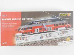 Faller 120202 Moderner Bahnsteig mit Zubehör H0 NEU in Folie OVP