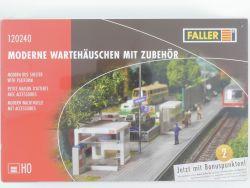 Faller 120240 Moderne Wartehäuschen mit Zubehör H0 MIB NEU OVP