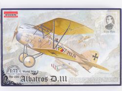 Roden 026 Albatros D.III World War B.Fiala 1/72 Kit NEU!  OVP
