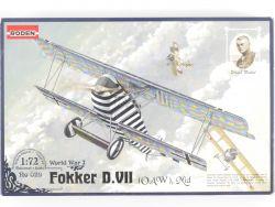Roden 029 Fokker D.VII OAW Mid World War Neckel 1/72 Kit NEU OVP