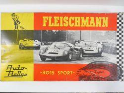 Fleischmann 3015 Sport Auto Ralley Rennbahn Slot Car 60er OVP