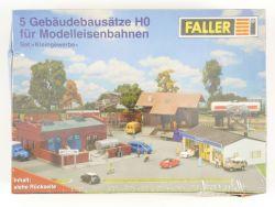 Faller Set Kleingewerbe 5 Gebäudebausätze Spur H0 1:87 NEU! OVP