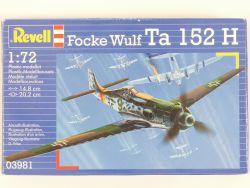 Revell 03981 Focke Wulf Ta 152 H Flugzeug Kit 1:72 MIB NEU! OVP