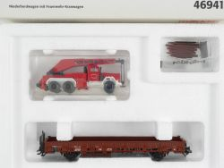 Märklin 46941 Niederbordwagen Feuerwehr Kranwagen Wiking NEU OVP