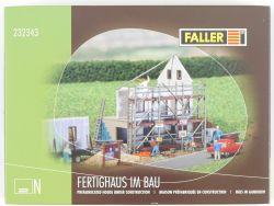 Faller 232343 Fertighaus im Bau Bausatz Kit Spur N NEU! OVP