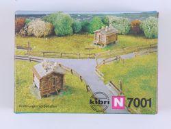 Kibri B-7001 Heustadel 2x Alpenhütte Spur N Bausatz Kit NEU OVP