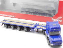Herpa 152709 Scania Hauber Teletrailer-Sattelzug Hochtief NEU OVP