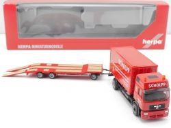 Herpa 151313 MAN F2000 HD Container-LKW TU 3 Scholpp  OVP