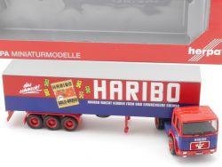 Herpa 153072 MAN F8 Koffer-Sattelzug Haribo SZ LKW NEU! OVP