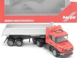 Herpa 151894 Scania Hauber 04 Rundmulden-Sattelzug SZ LKW OVP