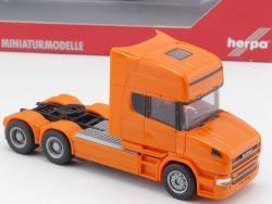 Herpa 151726 Scania Hauber Topline Zugmaschine orange NEU! OVP