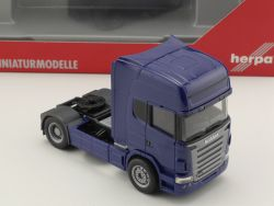 Herpa 150422 Scania R Topline 2004 Zugmaschine blau LKW NEU! OVP