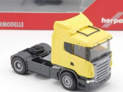 Herpa 151764 Scania R Solo-Zugmaschine gelb ZGM ZM LKW NEU! OVP