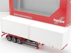 Herpa 075688 40ft. Containerauflieger U-Schutz Anhänger TOP! OVP