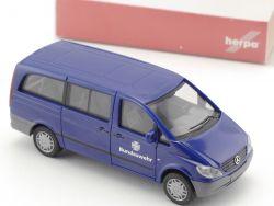 Herpa 046787 MB Vito Bus BW Fuhrpark Bundeswehr blau NEU! OVP