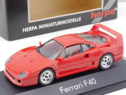 Herpa 1000 Ferrari F40 Rot 1:43 High Tech Collection wie NEU OVP