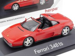 Herpa 1020 Ferrari 348 ts Rot Red 1:43 High Tech Vitrine TOP OVP