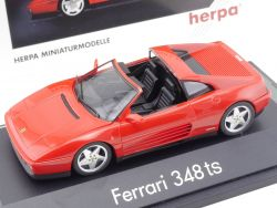 Herpa 1020 Ferrari 348 ts Rot Red 1:43 High Tech Vitrine OVP