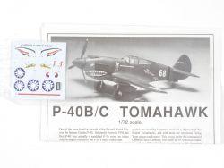 Academy 1655 Curtiss P-40B/C Tomahawk Kampfflugzeug 1:72 Kit