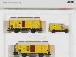 Märklin 4876 Wagen-Set Bananentransport Bananenwagen KKK NEU! OVP