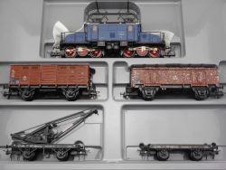 Trix 31327 Güterzugset Ellok E 70 22438 Kranwagen 23517 H0 OVP