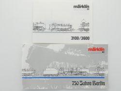 Märklin 3600 nur Anleitung und Booklet Papiere zu Set