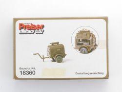 Preiser 18360 Military Bausatz Anhänger Kompressor H0 NEU! OVP ZZ