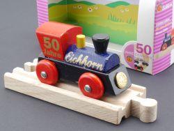 Eichhorn Lok Holzeisenbahn 50 J. Messe 2000 ltd Edition Sammlerstück OVP