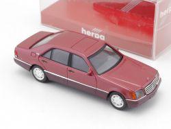 Herpa Mercedes MB 600 SEL W140 Rot Modellauto SoMo 1:87 OVP
