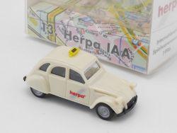 Herpa Citroen 2 CV 6 Ente Taxi Inter Spielwarenmesse IAA 96 OVP