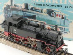 Märklin 3095 Dampflokomotive BR 74 1070 DB blauer Karton TOP OVP