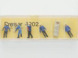 Preiser 4202 Feuerwehrmänner Rettung Trage Figuren H0 14202 OVP