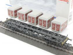 Märklin 4767 Containertragwagen Von Haus zu Haus DB KKK OVP