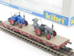 Kibri 26252 Niederbordwagen mit 2 Lanz Buldogs Traktor KKK  OVP