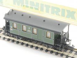 Minitrix 13317 Lokalbahn Gepäckwagen Postabteil KBayStsB EVP
