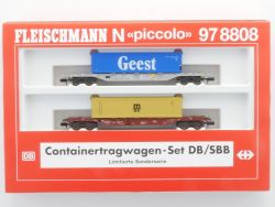 Fleischmann 97 8808 Containertragwagen-Set DB/SBB KKK TOP! OVP