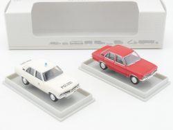 Brekina 018292 Opel Ascona A Set Polizei Wiesbaden Rot NEU OVP